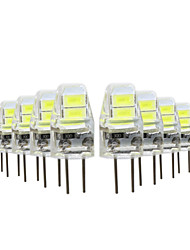 10pçs 1W G4 Luminárias de LED  Duplo-Pin 4 leds SMD 5730 Branco Quente Branco Frio 50lm 2800-3500/6000-6500K DC5V