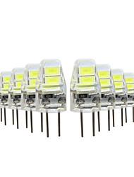 10 pezzi 1W G4 Luci LED Bi-pin 4 leds SMD 5730 Bianco caldo Luce fredda 50lm 2800-3500/6000-6500K DC5V
