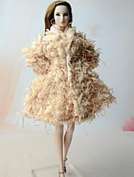 baratos -Boleros Blusa Para Boneca Barbie Casaco Para Menina de Boneca de Brinquedo