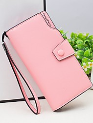 cheap -Women Bags PU Wallet Buttons for Event/Party Shopping All Seasons Red Blushing Pink Purple Yellow Fuchsia