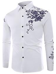 cheap -Men's Cotton Shirt Print
