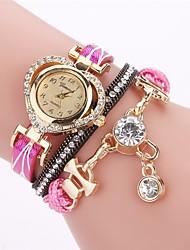 cheap -Women's Fashion Watch Simulated Diamond Watch Bracelet Watch Chinese Quartz PU Band Bohemian Elegant Casual Black White Blue Red Brown