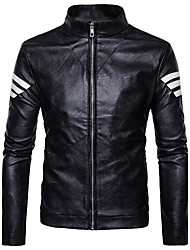 cheap -Men's Street chic Jacket-Color Block Stand