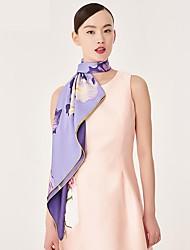 cheap -Women Silk Square Print Spring/Fall All Seasons