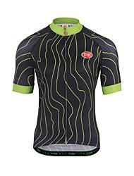Camisa para Ciclismo Homens Manga Curta Moto Pulôver Blusas Respirabilidade Terylene Riscas Verão Correr Ciclismo de Montanha Ciclismo de