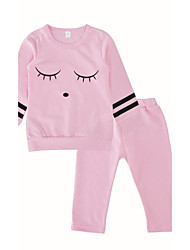 cheap -Baby Girls Daily Daily Print Clothing Set