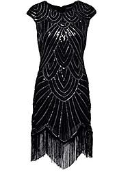 preiswerte -Latein-Tanz Kleider Damen Leistung Elasthan Pailetten Quaste Ärmellos Normal Kleid