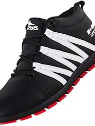 Недорогие -Для мужчин обувь Полиуретан Осень Зима Удобная обувь Модная обувь Ботинки Для фитнеса Ботинки На эластичной ленте Назначение Повседневные