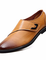 cheap -Men's Shoes Real Leather Spring Fall Comfort Oxfords For Casual Light Brown Brown Black