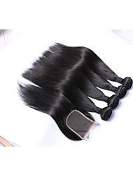 economico -Cappelli veri Brasiliano Extensions per capelli Nero