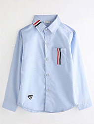 cheap -Boys' Solid Shirt,Cotton Fall Long Sleeve Light Blue