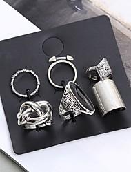 preiswerte -Damen Ringe Set Kristall Strass Retro Böhmische Krystall Aleación Trapezform Oval Modeschmuck Normal Strasse