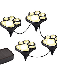 YWXLight® Paw Print Solar Outdoor Garden Lights Set Paw Print Solar Garden Lights Warm White / White