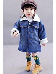 Girls' Solid Jacket & Coat Fall Winter Long Sleeve