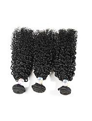 cheap -Unprocessed Brazilian Bundle Hair Curly Hair Extensions 3 Pieces Black