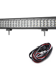 cheap -189W 18900LM 6000K 3-Rows LED Work Light Cool White Spot Offroad Driving Light for Car/Boat/Headlight IP68 9-32V  2m 1-To-1 Wiring Harness Kit