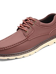 cheap -Men's Shoes Cowhide Spring Summer Comfort Oxfords Lace-up for Casual Outdoor Black Coffee Brown