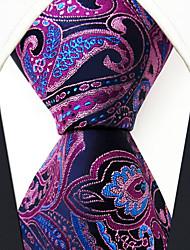 Недорогие -мужская сторона основной районный галстук - цветочный цветной жаккард