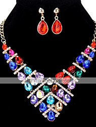 cheap -Women's Fashion Bling Bling Party Evening Party Zircon Alloy Drop Necklace Earrings