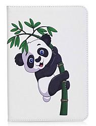 panda e bambù portafoglio con portafoglio magnetico in cuoio per la linguetta Samsung galassia s2 8.0 t710 t715 8.0 pollici tablet pc