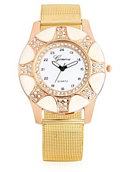 cheap -Women's Fashion Watch Wrist watch Simulated Diamond Watch Chinese Quartz Large Dial Metal Band Charm Casual Cool Gold