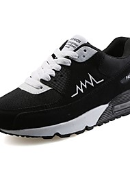 cheap -Men's Shoes PU Spring Fall Comfort Athletic Shoes Walking Shoes For Casual Black Gray Black/White