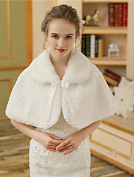 cheap -Faux Fur Wedding Party / Evening Women's Wrap With Pattern / Print Lace-up Fur Capelets