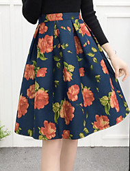 Women's Going out Knee-length Skirts Pencil Print Summer