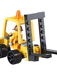 Building Blocks Forklift Toys Forklift Vehicles Military DIY Classic New Design Kids Adults' 37 Pieces