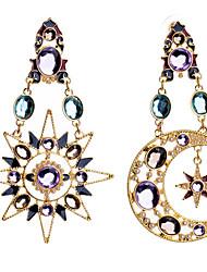 preiswerte -Damen Unterschiedliche Ohrringe Kubikzirkonia Zirkon Aleación Sternenform Mond Schmuck Für Party Ausgehen