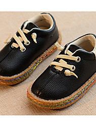 Boys' Shoes PU Spring Fall Comfort Sneakers For Casual Yellow Black White