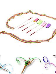 1PCS Design Dance Ribbon Gym Rhythmic Gymnastics Rod Art Ballet Twirling Stick Color Random
