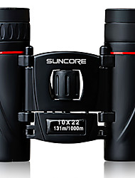 cheap -SUNCORE® 10X22 Binoculars Portable Adjustable Easy Carrying Lightweight Travel Size BAK7 Multi-coated 131/1000 Central Focusing