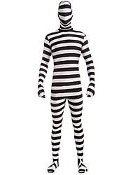 economico -Detenuto Costumi Cosplay Donna Halloween Feste / vacanze Costumi Halloween Bianco Strisce