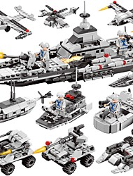 cheap -BEIQI Building Blocks 472pcs Classic New Design Warship Plane / Aircraft Destroyer 6 in 1 DIY Chic & Modern High Quality Military Boat