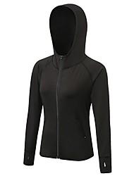 cheap -Women's Running Baselayer Long Sleeves Breathability Sweatshirt for Exercise & Fitness Running Mountain Bike/MTB Polyester Black