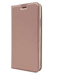 billige -Etui Til Apple iPhone X Kortholder Med stativ Fuldt etui Helfarve Hårdt PU Læder for iPhone X
