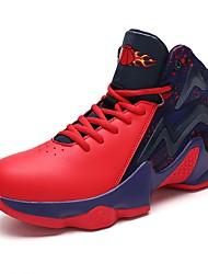 cheap -Men's Shoes Leatherette Spring Fall Comfort Athletic Shoes Basketball Shoes Split Joint For Casual Blue Red Black