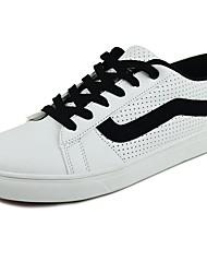 economico -Da uomo Scarpe PU (Poliuretano) Primavera Autunno Comoda Sneakers Lacci Per Casual Bianco Bianco/nero White/Blue