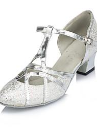 cheap -Women's Modern Leatherette Sandal Sneaker Professional Buckle Stiletto Heel Silver Gold Customizable