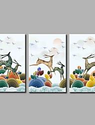 preiswerte -elk 3-teilig moderne kunstwerk wandkunst für raumdekoration 20x28inchx3