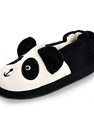 cheap -Girls' Shoes Fleece Fall Winter Comfort Light Soles Slippers & Flip-Flops Applique For Casual Black/White