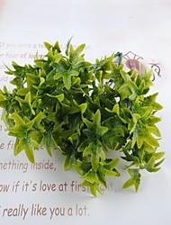 preiswerte -33cm 3 PC 7 Niederlassungen / PC-Hauptdekoration künstliche grüne Pflanzen verlässt
