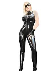 preiswerte -Superstar Zentai Anzüge Cosplay Kostüme Damen Halloween Karneval Silvester Fest / Feiertage Halloween Kostüme Austattungen Schwarz Solide Sexy Uniformen