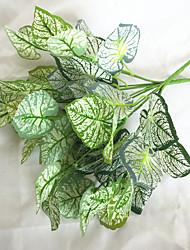 preiswerte -34cm 3 stücke 7 zweige / pc dekoration künstliche grüne pflanzen myrtus communis blatt