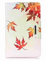 Leaf Pattern Card Holder Wallet with Stand Flip Magnetic PU Leather Case for Samsung GALAXY Tab E 9.6 T560 T561 9.6 inch Tablet PC