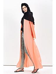 baratos -Mulheres Manga Alargamento Kaftan Vestido Sólido Longo