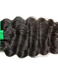 Недорогие -Индийские волосы Естественные кудри человеческие волосы Remy Человека ткет Волосы Ткет человеческих волос Расширения человеческих волос