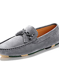 Men's Shoes Suede Spring Fall Comfort Loafers & Slip-Ons Tassel(s) For Casual Outdoor Gray Beige Black