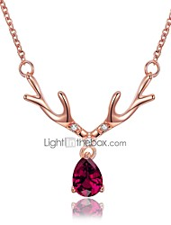 Women's Pendant Necklaces Geometric Zircon Rose Gold Plated Bling Bling Chrismas Jewelry For New Year Christmas